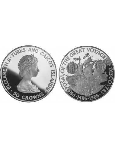 TURKS AND CAICOS - K061 - 50 CROWN...